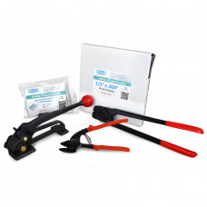 "1/2"" Steel Strapping Kit, 1100 lbs. Break Strength"