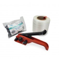 "3/4"" Woven Cord Strapping Kit, 2425 lbs Break Strength"