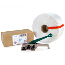 "1/2"" PRO Woven Cord Strapping Kit with Standard Roll, 650 lbs Break Strength"