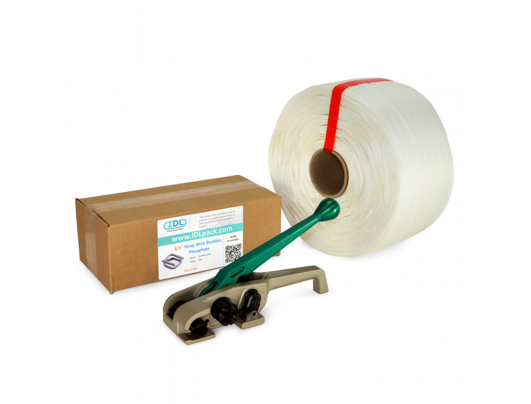 "3/4"" PRO Woven Cord Strapping Kit, 1830 lbs Break Strength"