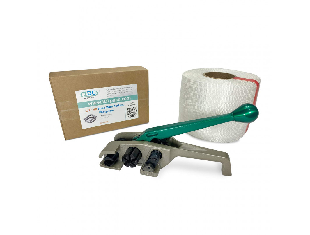 "1/2"" PRO Woven Cord Strapping Kit, 650 lbs Break Strength"