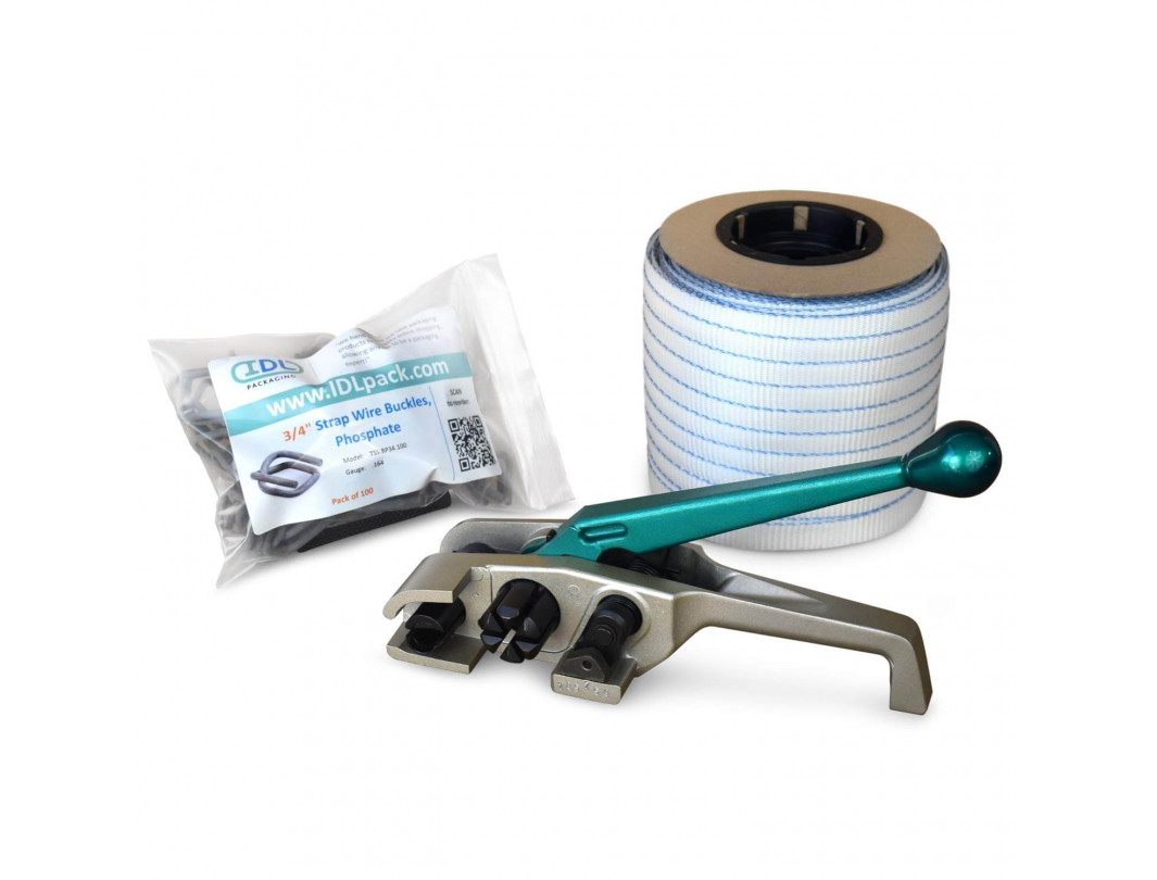 "3/4"" PRO Woven Cord Strapping Kit, 2400 lbs. Break Strength"