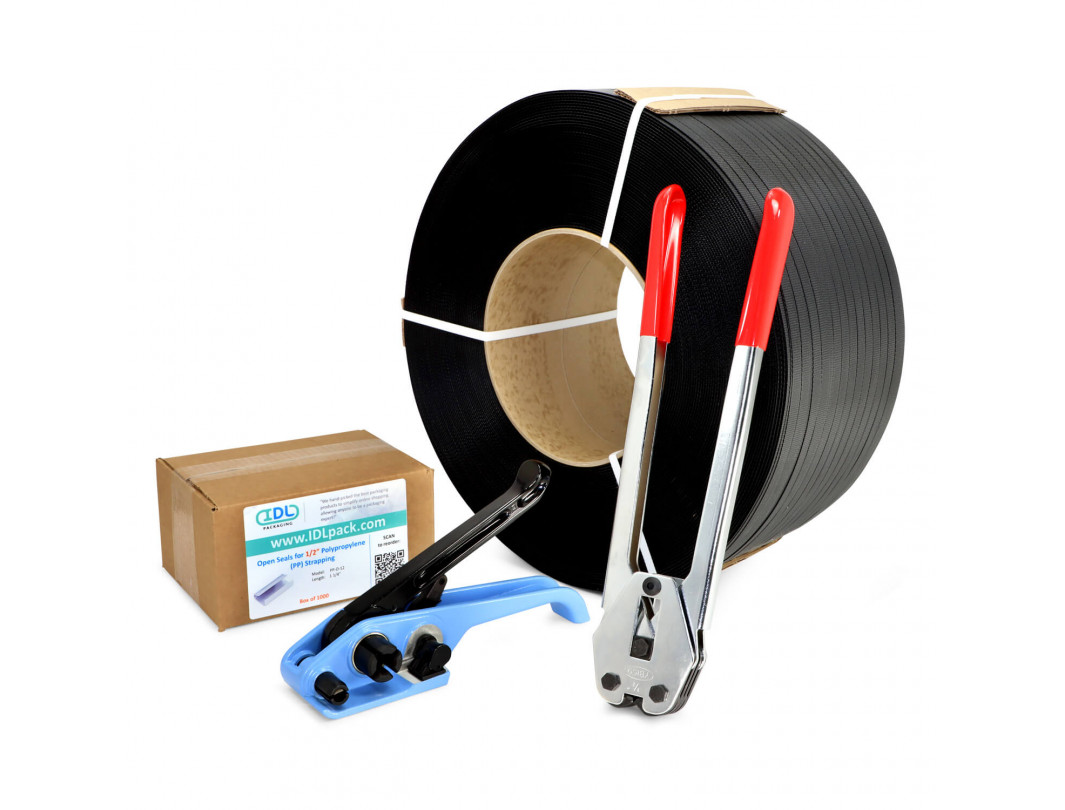"1/2"" Polypropylene (PP) Strapping Kit, 350 lbs Break Strength"