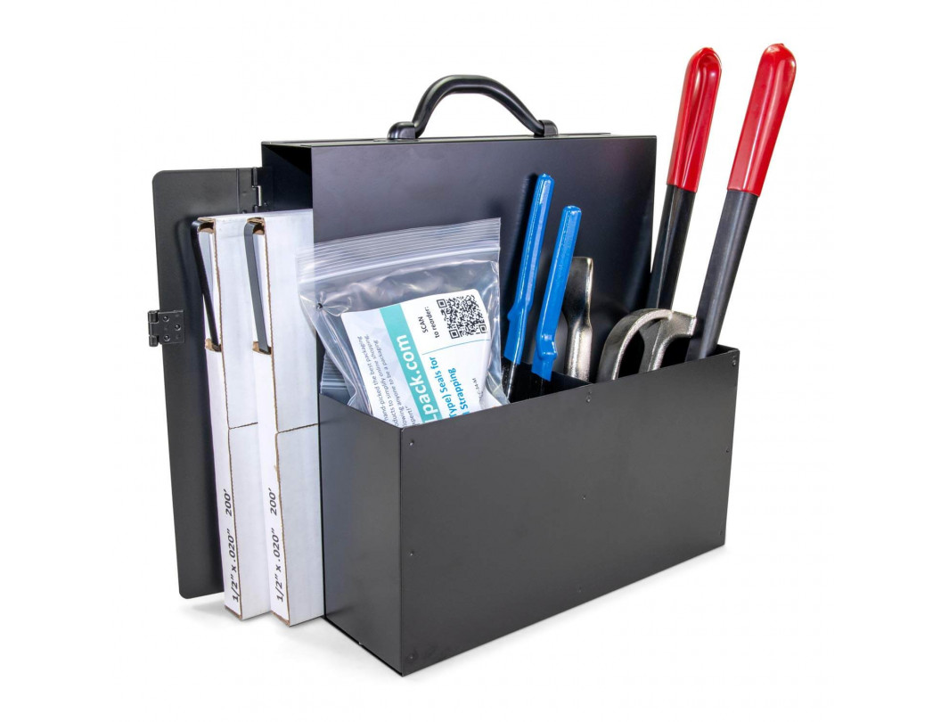"""1/2"""" or 5/8"""" or 3/4"""" Portable Steel Strapping Kit for Pipes, Pallet Strapping Full Kit 1"""