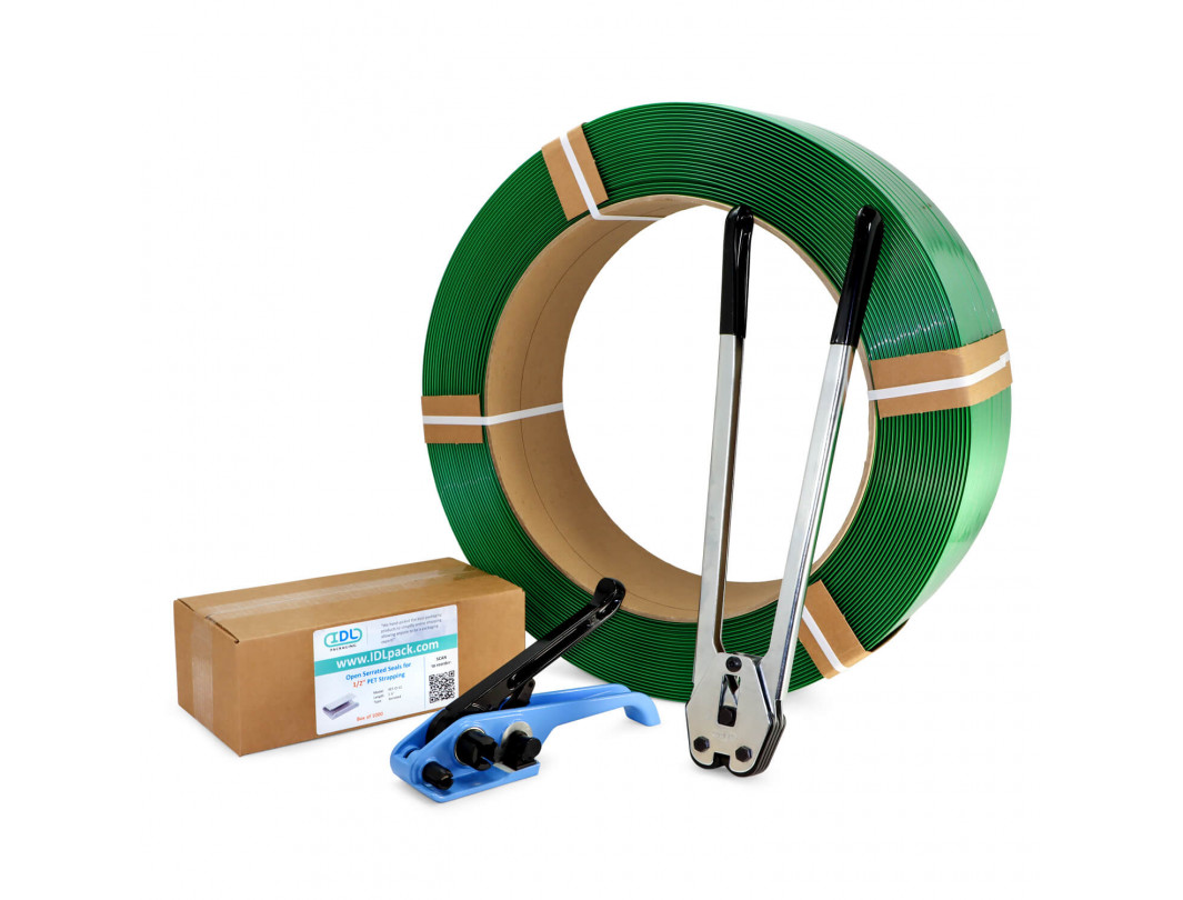 "1/2"" Polyester (PET) Strapping Kit, Standard, 780 lbs. Break Strength"