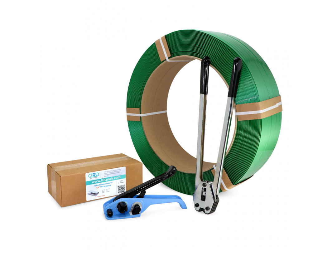 "5/8"" Polyester (PET) Strapping Kit, Standard, 1400 lbs. Break Strength"