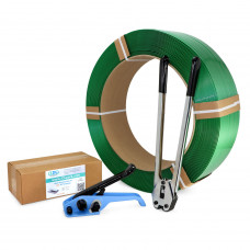 """5/8"""" Polyester (PET) Strapping Kit, Standard, 1400 lbs. Break Strength"""