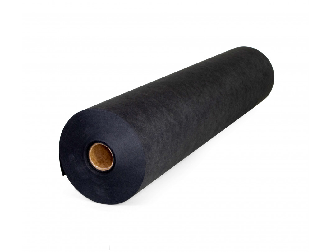 "18"" x 180' Black Steak Paper Roll"