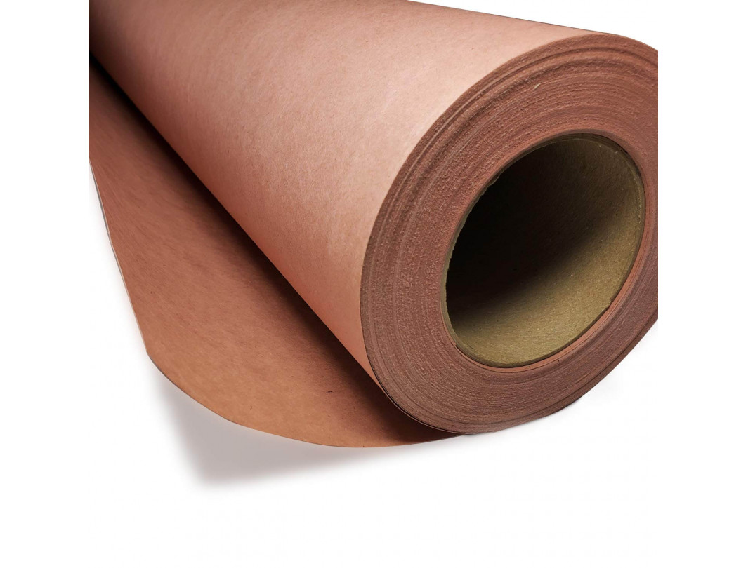 "36"" x 166' Red Rosin Heavy Duty 99# Constructor Painters Paper Roll"