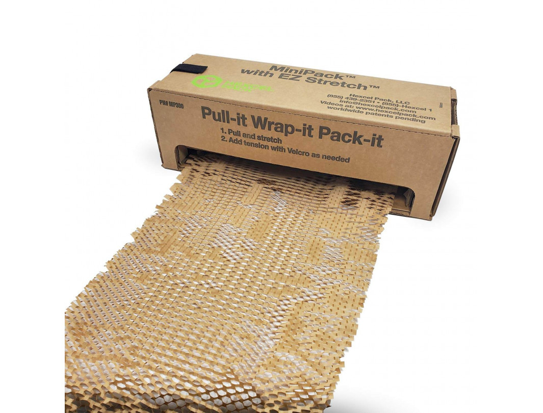 HexcelWrap Cushioning Kraft Paper in Self-dispensed Box
