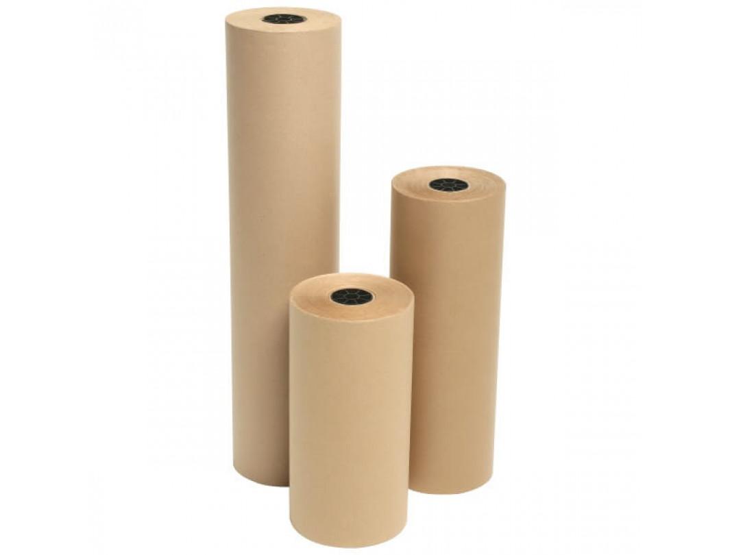 """24"""" x 1200' Jumbo Kraft Paper Roll 1"""