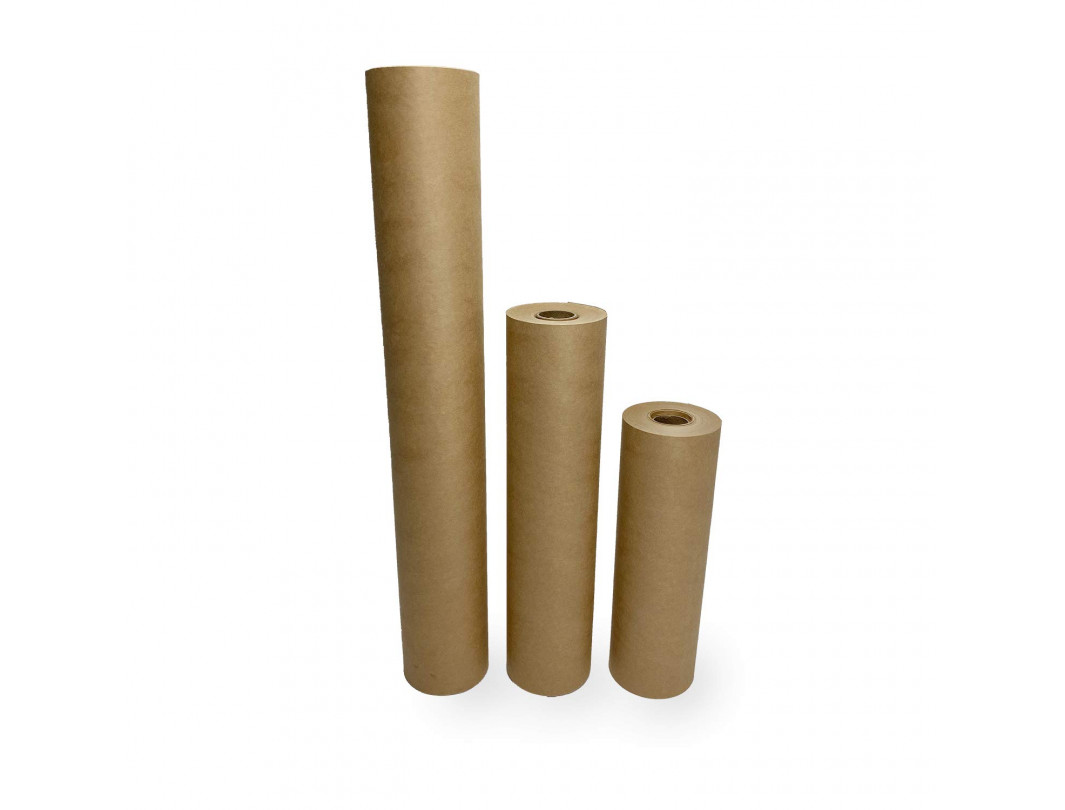 """Masking Paper Set of 9"""", 12"""" and 18"""" Brown Masking Paper Rolls (60-yard Long) for Protection from Water-Based Materials"""