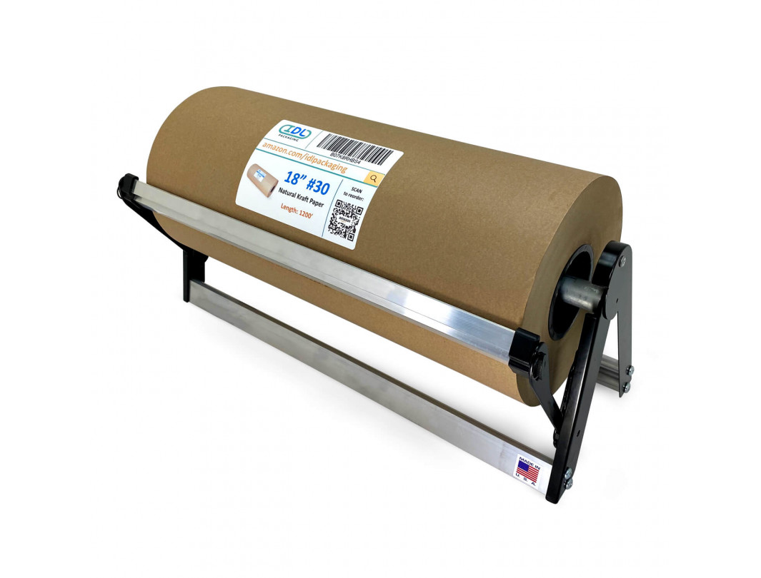 """PD-18 Dispenser with Cutter for 18"""" Width Kraft and Butcher Paper Rolls 3"""