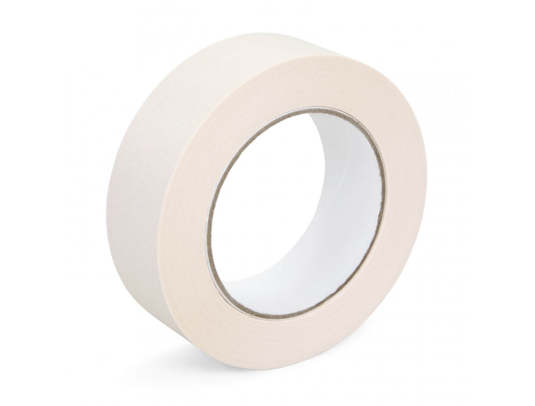 "1 1/2"" x 60 yards White Masking Tape for General Purpose, Natural Rubber"