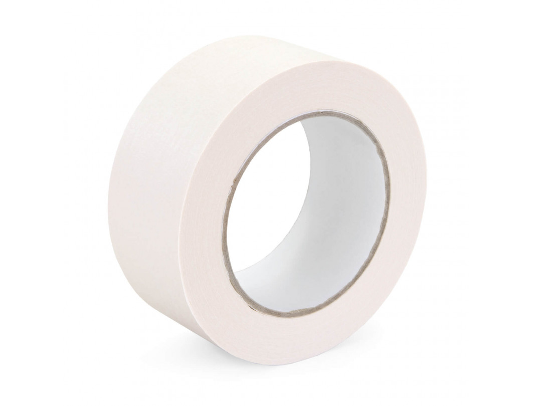 "2"" x 60 yards White Masking Tape for General Purpose, Natural Rubber"