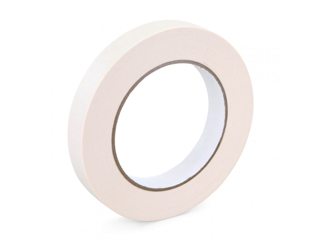 """3/4"""" x 60 yards White Masking Tape for General Purpose, Natural Rubber"""