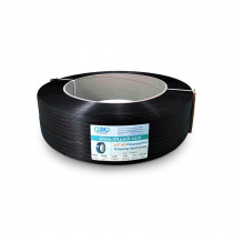 "1/2"" x 7200' Heavy Duty Hand Grade Polypropylene (PP) Strapping Roll, 600 lbs. Break Strength, 16 x 6 Core, Black"