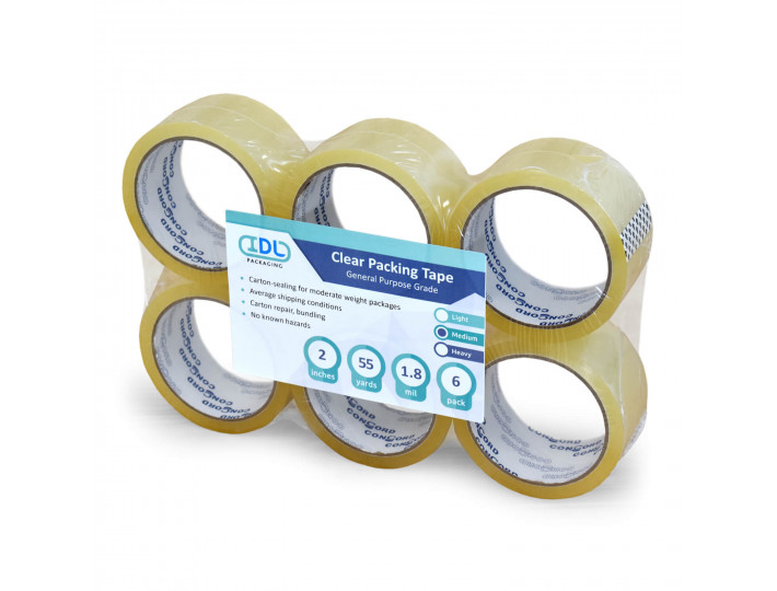 "Concord Packing Tape 2"" x 55 Yards, Clear (Pack of 36)"