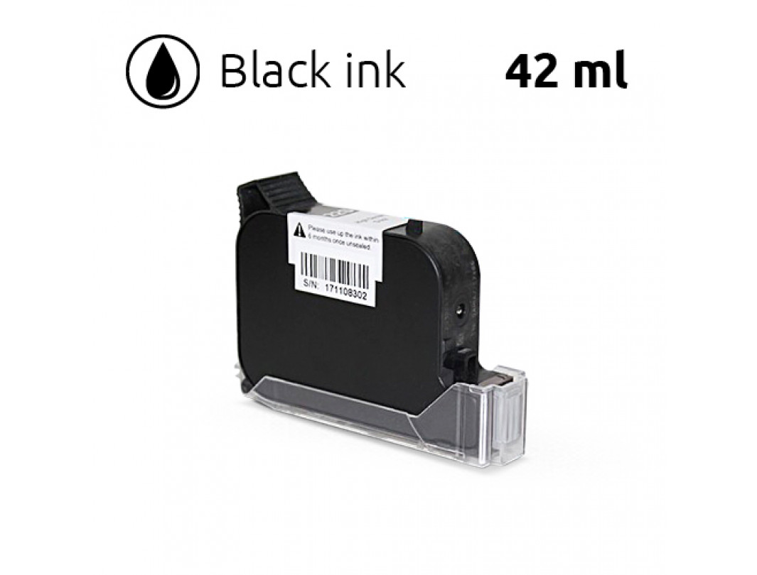 Black Ink Cartridge for SoJet V1H Handheld Printer, 42 ml, Water-Based