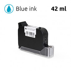 Blue Ink Cartridge for SoJet V1H Handheld Printer, 42 ml, Solvent-Based