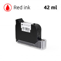 Red Ink Cartridge for SoJet V1H Handheld Printer, 42 ml, Solvent-Based