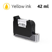 Yellow Ink Cartridge for SoJet V1H Handheld Printer, 42 ml, Solvent-Based