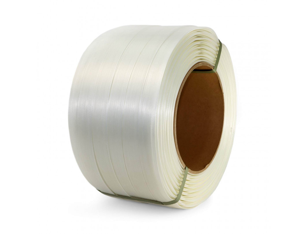 "1 1/4"" x 820' Heavy Duty Composite Cord Strapping Roll, 3300 lbs. Break Strength, 8 x 8 Core"