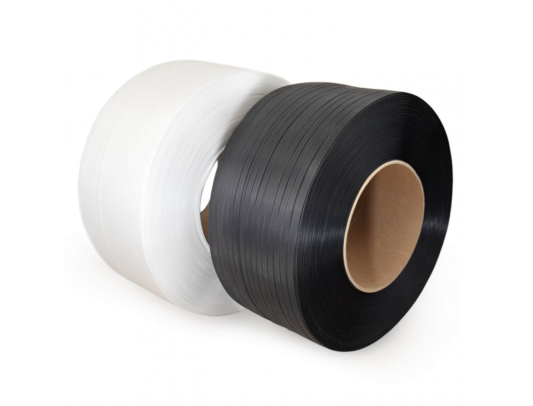 "1/2"" x 9900' Machine Grade Polypropylene (PP) Strapping, 300 lbs. break Strength, 8 x 8 Core Size, White"