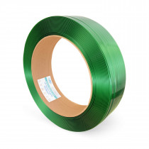 "5/8"" x 0.035"" x 4000' Polyester (PET) Strapping, 1400 lbs. Break Strength, Green"
