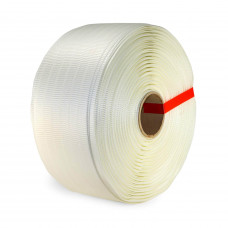 "3/4"" x 1640' Super Heavy Duty Woven Cord Strapping Roll, 2425 lbs. Break Strength, 6"" x 3"" Core"
