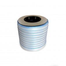 "3/4"" x 250' Woven Cord Strapping Mini Roll, 2400 lbs. Break Strength, 6 x 3 Core"