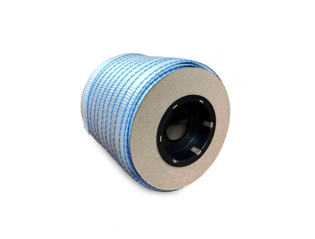 "3/4"" x 250' Woven Cord Strapping Mini Roll, 2400 lbs. Break Strength, 6 x 3 Core 1"