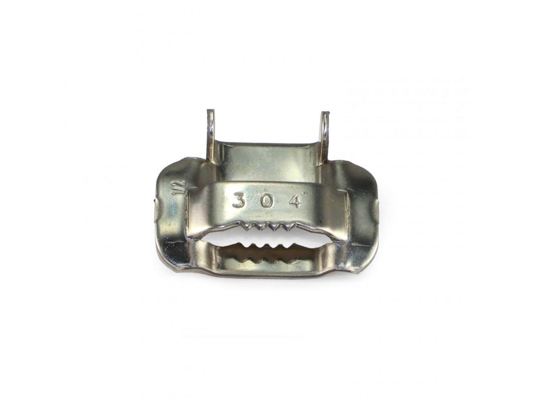 """1/2"""" Open 304 Stainless Steel Ear-Lokt Buckle 1"""