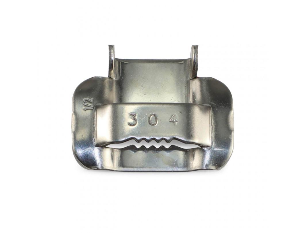 """1/2"""" Open 304 Stainless Steel Ear-Lokt Buckle 2"""