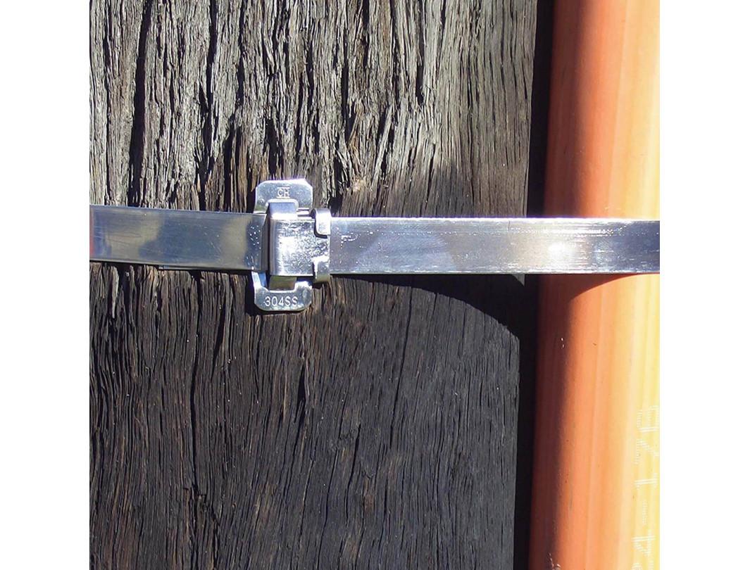 """1/2"""" Open 304 Stainless Steel Ear-Lokt Buckle 6"""