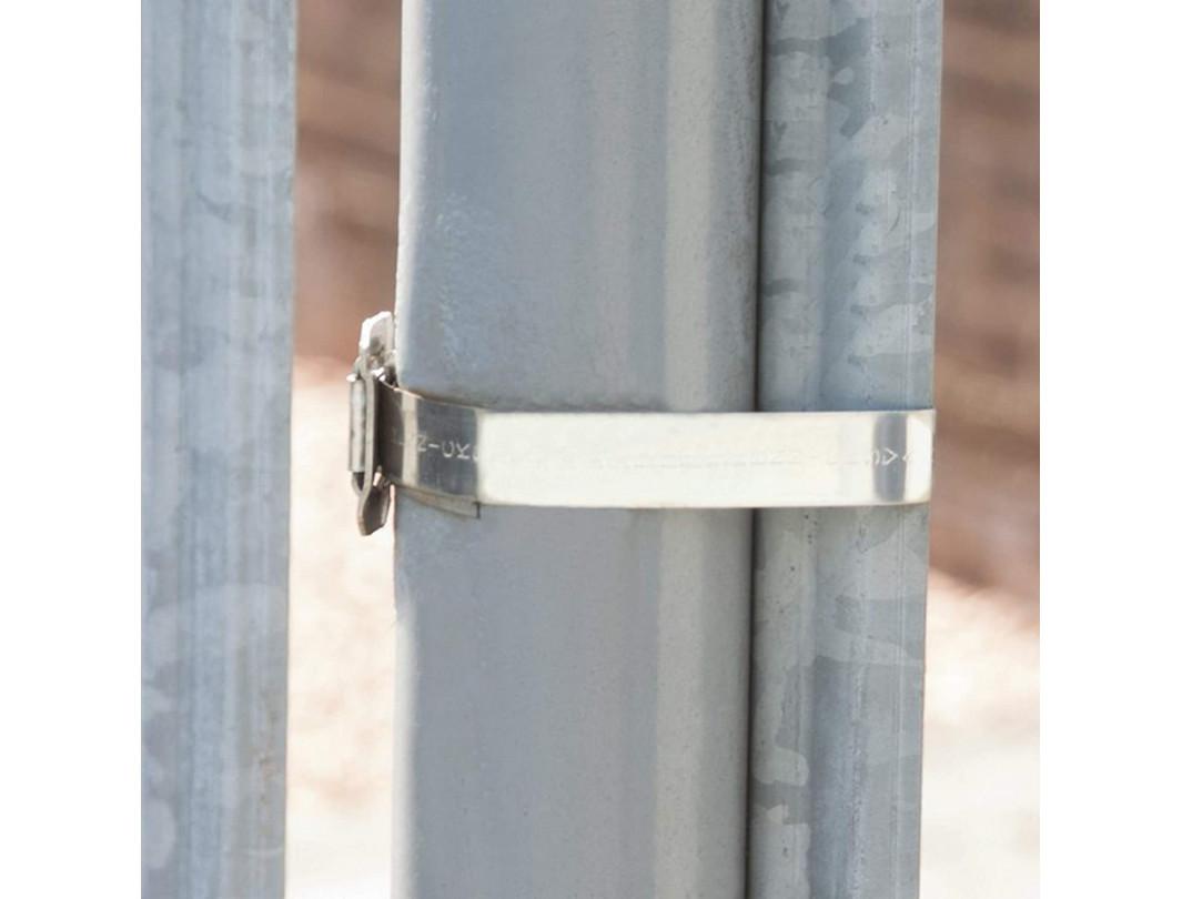 """3/4"""" Open 304 Stainless Steel Ear-Lokt Buckle 6"""