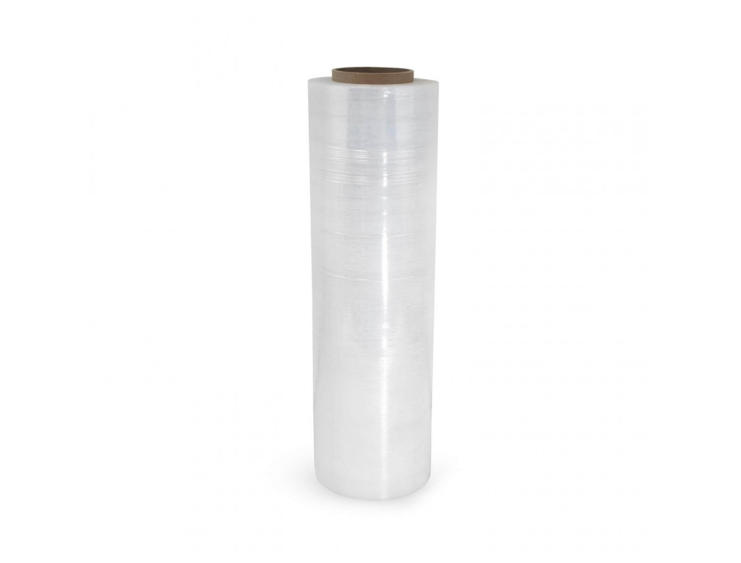 "16"" x 1500' 63 Gauge Hand Stretch/Shrink Film Roll, Clear"