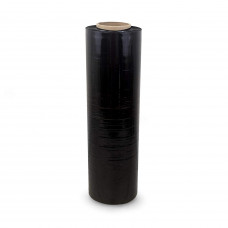"18"" x 1500' 80 Gauge Hand Stretch/Shrink Film Roll, Black"