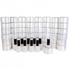 """Pack of 180 Stretch Wrap Mini Rolls with 10 Handles of 80 Gauge (3"""" and 5"""" x 1000')"""