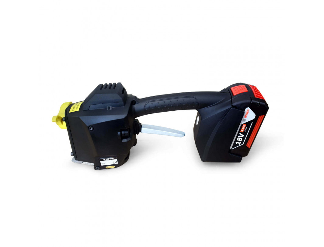 """TEK-2 Set for Polyester (PET) Strapping, Battery Welder and HD Tensioner, Bosch Charger and Battery Included 3/4"""" Strap Width 3"""