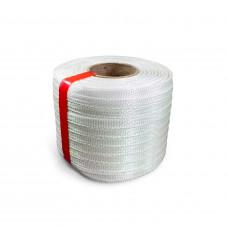 "1/2"" x 1500' Heavy Duty Woven Cord Strapping Mini Roll, 650 lbs. Break Strength, 6"" x 3"" Core"