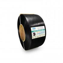 "1/2"" x 7200' Heavy Duty Hand Grade Polypropylene (PP) Strapping Roll, 600 lbs. Break Strength, 8 x 8 Core, Black"