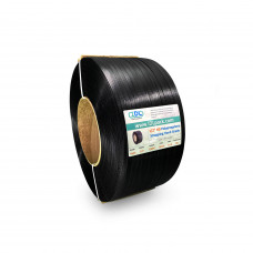 "1/2"" x 7200' Heavy Duty Hand Grade Polypropylene (PP) Strapping Roll, 600 lbs. Break Strength, 8 x 8 Core, Black"
