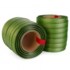 """3/4"""" x 250' Heavy Duty Tree Tie Flat Rope, 1800 lbs Break Strength, Green Color"""