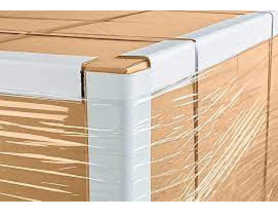 "2"" x 2"" x 48"" V-Board Cardboard Edge Protector, Extra Hard, White 4"