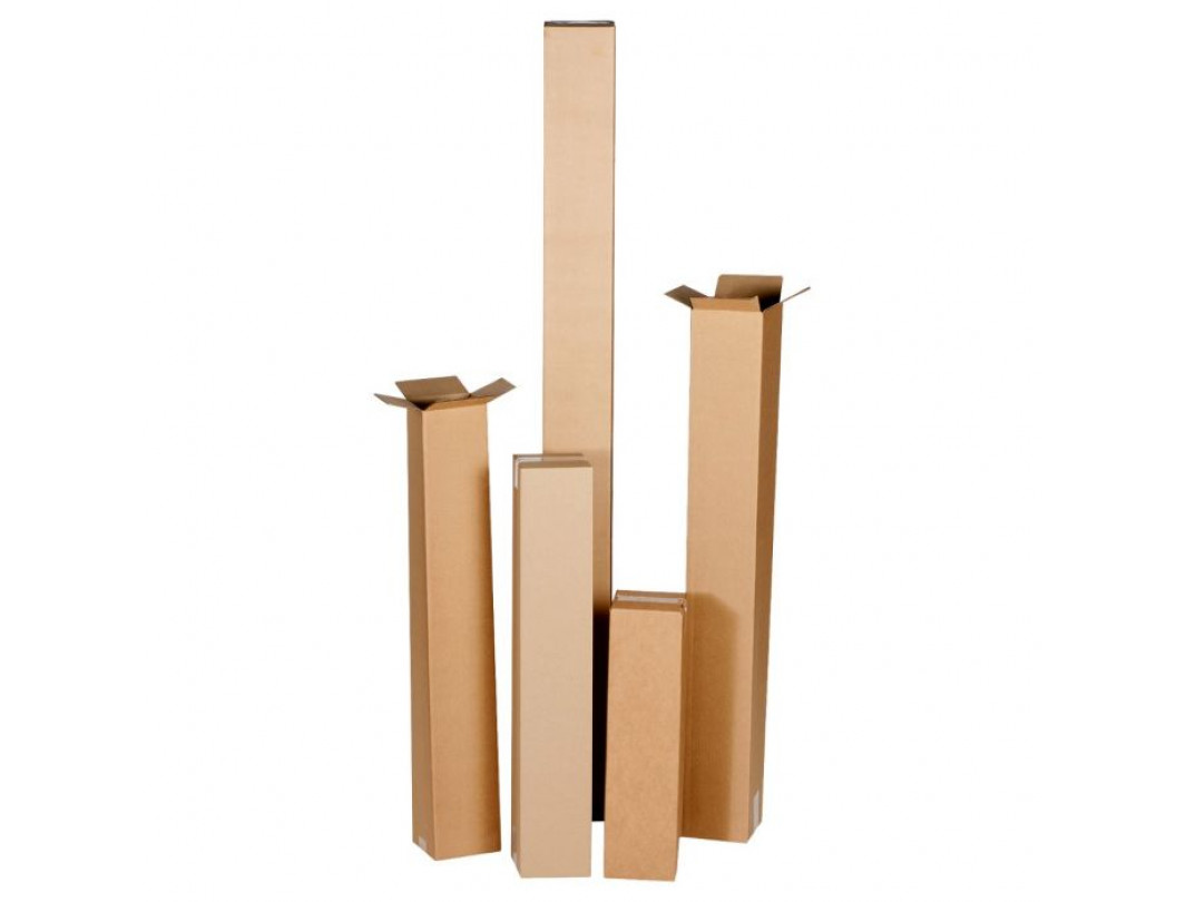 """4""""L x 4""""W x 18""""H Tall Cardboard Box for Moving, Shipping, Storage, 100% Recyclable, Brown 2"""